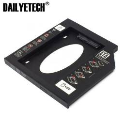 Caddy Case Adaptador Hd 12.7mm Dvd Ssd Gaveta Sata Notebook