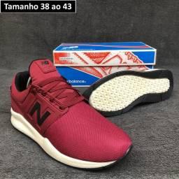 Tênis New Balance 247 Vermelho com branco insta @lojaavariantes