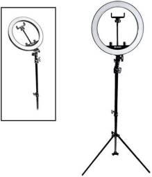 Iluminador LED Ring Light 26cm para Maquiagem-(Lojas Wiki)