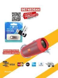 *Combo*Caixa De Som Jbl Bluetooth Charge 2+Pen Drive 8 Gg