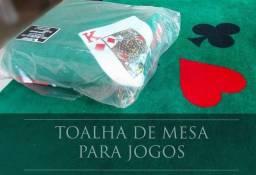 Toalha para jogos de cartas