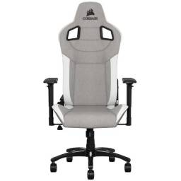 Cadeira Gamer Corsair T3 Rush Branco e Cinza