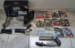 Nintendo Wii Black completo na caixa