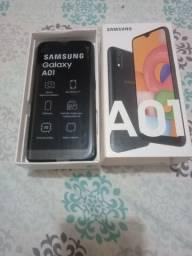 Smartphone Samsung Galaxy A01 novo na caixa, documento e garantia