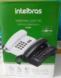 Telefone Com Fio Intelbras Pleno Preto - Produto Novo