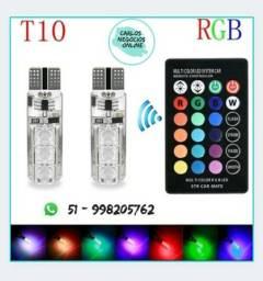 Lâmpada Led T10 RGB Cores com Controle