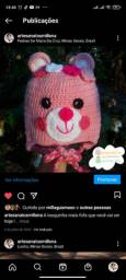 Touca de crochê Infantil personalizada
