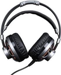 Fone Headset Gamer 7.1 Surround Led Laranja ELG Hgss71