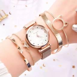 Relógio Feminino + Brindes