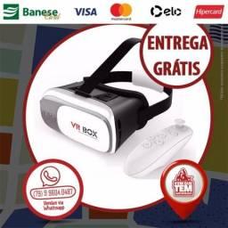 Óculos 3D VR Box 2.0 Realidade Virtual + Controle Bluetooth