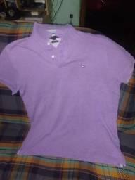 Camisa polo lilás Tommy Hilfiger tamanho G