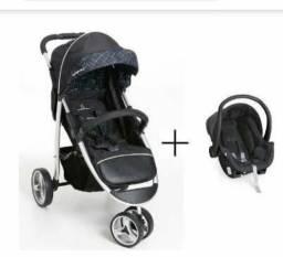 Carrinho de bebê Galzerano Apolo com o bebê conforto - semi novo - 650,00