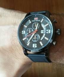 8e9c5f4d9da Mini Focus Relógio Clássico Com Pulseira De Couro Masculino