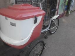 Bicicleta cargueira bastante reforçada