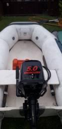 Vendo ou troco Flex boat TD-8 + motor Mercury 5hp