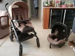Carrinho + Bebê conforto + suporte carro- Switch Four PégPérego