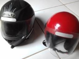 2 capacetes usados N 58