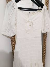 Vestido  branco lese 100%algodão