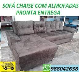 Peça Agora e Receba No Mesmo Dia!!Sofa Chaise Com Almofadas Novo Apenas 799,00