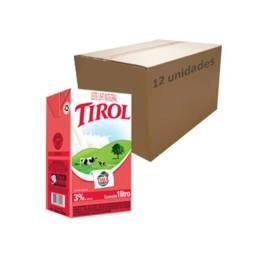 Atacado: Leite Longa Vida Integral UHT Tirol 1l (Caixa c/ 12)
