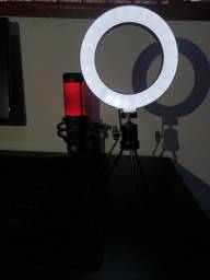 Led ring light de mesa