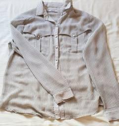 Blusas finas de manga longa