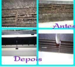 Limpeza e higienização de ar condicionado Split e ACJ