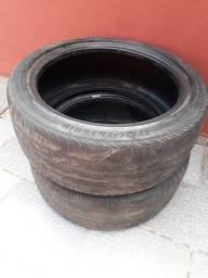 2 pneus 215/45/r17 goodyear efficient grip, para remolde ou frisar