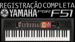 Teclado Yamaha Arranjador Psr F 51 Bra Pt Original C Fonte Garantia 1 ano