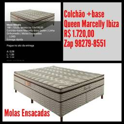 Colchão + base Queen Marcelly Ibiza/ Frete Grátis para maioria dos bairros.