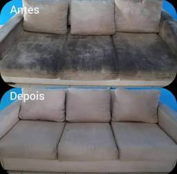 Lavagem a seco de sofá