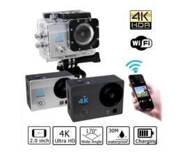 Action Câmera Go Sport Wi-fi 4k 1080p Prova D'água + 15 Acessórios Lacrado