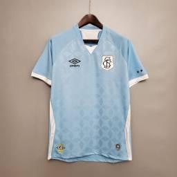 Camisetas do Santos modelos: azul, branca, listrada