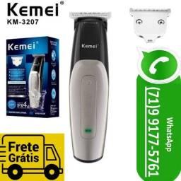 Maquina Acabamento Cabelo Barba Hair Kemei Sem Fio Km 3207 Aparador Pelos (NOVO)
