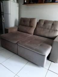 Sofá retrátil / reclinável 3 lugares com 2 meses de uso