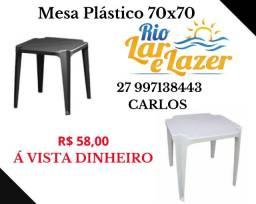 Mesa Plástica 70x70