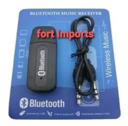 Adaptador bluetooth saida de áudio p2 com alimentação via usb