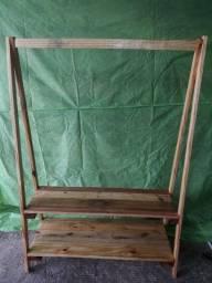 Arara/cabideiro de roupas Madeira de palete e pinus