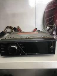 DVD Pioneer tela de 3.5 com USB sem conectar