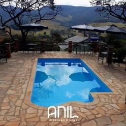 Título do anúncio: JA - Piscina nova de 7 metros - piscina de fibra