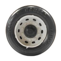 Jogo Rodas de Plástico 7cm P/ Brinquedo Carrinho Carreta Caminhão Ou Ônibus de Brinquedo