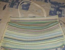 Sacola De Feira Nylon C/zipper  40x30cm + Brinde.