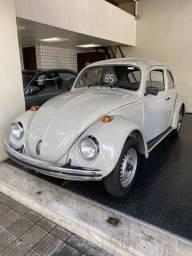 Volkswagen Fusca 1600 Gasolina 1985 Cinza 90400 KMS Placa Preta