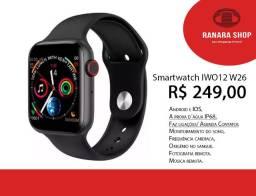 Smartwatch Iwo 12 - Faz Ligações/ Lista Contatos + Brinde Pulseira Aço