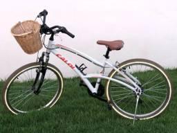 Bicicleta Caloi Confort 400 - Aro 26 - 21 marchas - Quadro em alumínio