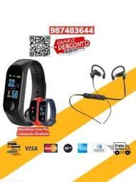 *Combo*Relogio Smartwhatch M3+Fone Sport Rt558