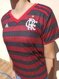 Camisa Feminina do Flamengo Camisa de Times Nação Rubro-Negra
