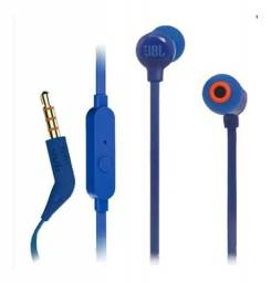 Fone De Ouvido Jbl Tune 110 Com Fio Microfone 100% Original Azul - Loja Natan Abreu