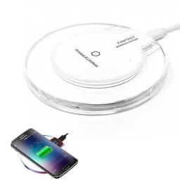 Carregador Por Indução Portátil Wireless + Receptor QI V8