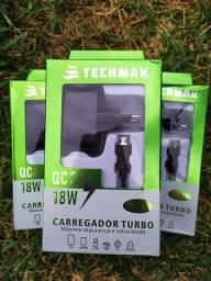 Carregador Turbo De Celular Carga 4x Mais Rápida
